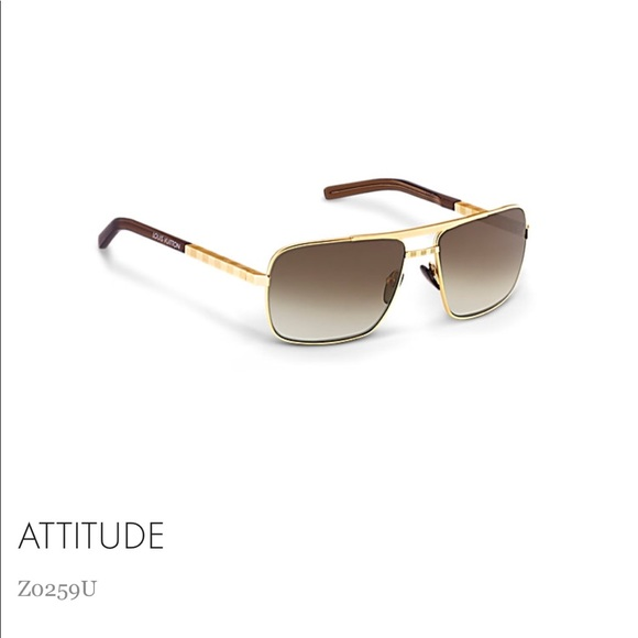 "d6db2b08234 Louis Vuitton Other - Louis Vuitton ""Attitude"" Gold sunglasses Zo26oU"